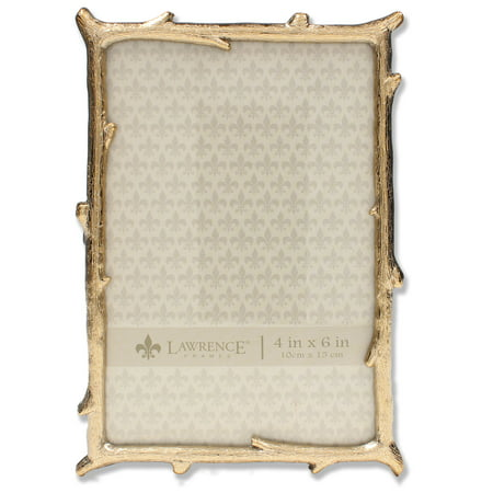 4x6 Gold Metal Picture Frame with Natural Branch Design