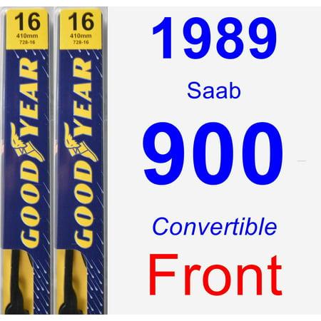 1989 Saab 900 Wiper Blade Set/Kit (Front) (2 Blades) - Premium (Saab Headlight Wiper)