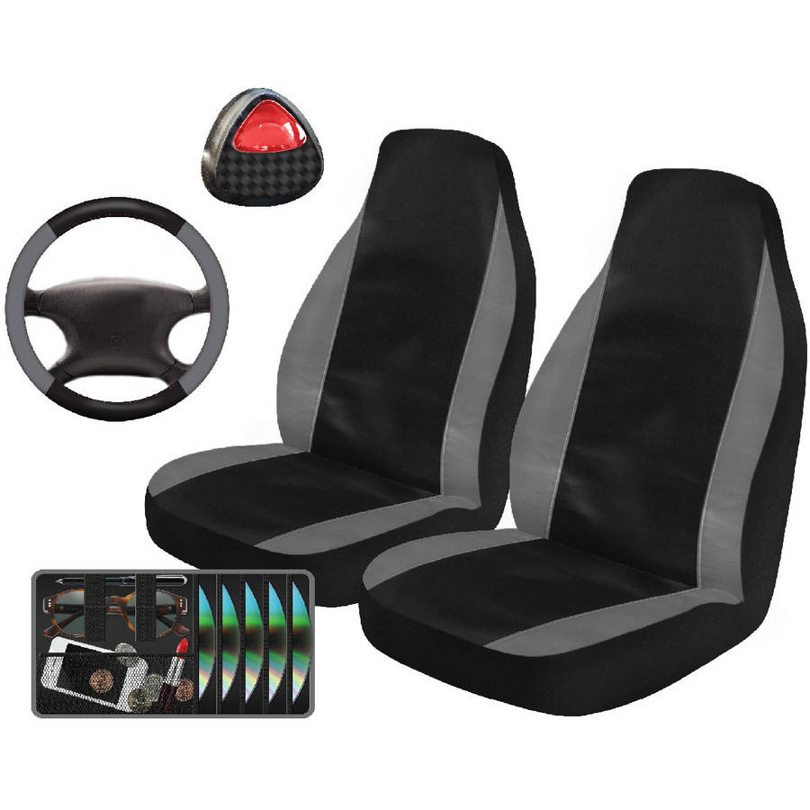 Auto Drive Active Leatherette Automotive Car Kit, 5-Piece
