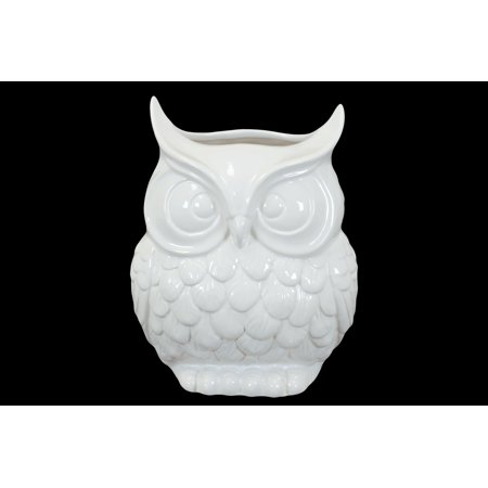 Urban Trends Collection Ceramic Owl Vase Gloss Finish Walmart