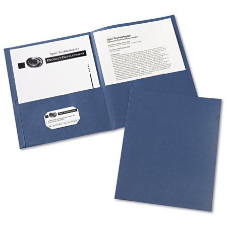 Avery Two-Pocket Folders, 25 Folders, Dark Blue (47985) (Three Pocket Folder)
