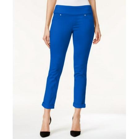 Style & Co Women's Boyfriend Low Rise True Sapphire Pants Size S