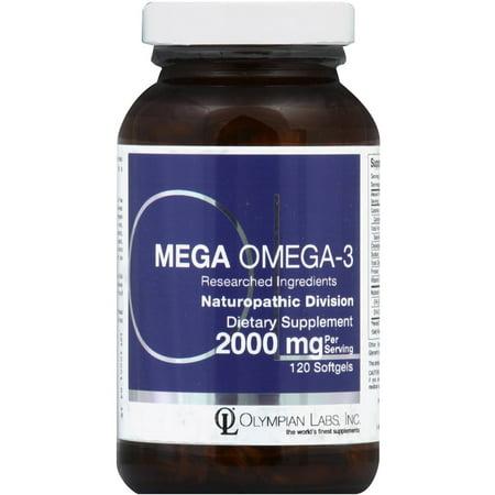 Olympian Labs Mega oméga-3, 2000 mg, gélules, 120 CT