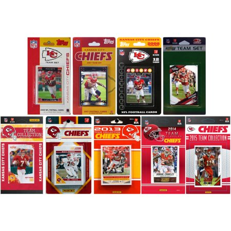 C&I Collectables NFL Kansas City Chiefs 9 Different Licensed Trading Card Team Sets