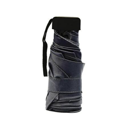 SUPERHOMUSE Mini Pocket Light Umbrella Windproof Sunscreen Folding Travel Compact Rain Umbrella for Men Women