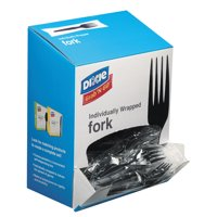 Dixie Grab?N Go Wrapped Cutlery, Forks, Black, 90/Box, 6 Box/Carton