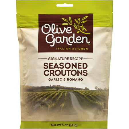 (4 Pack) Olive Garden Garlic & Romano Seasoned Croutons 5 Oz