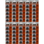 50 CR2032 Powertron Lithium 3V Batteries Size CR2032 RETAIL PACK 5 PER PACK ?