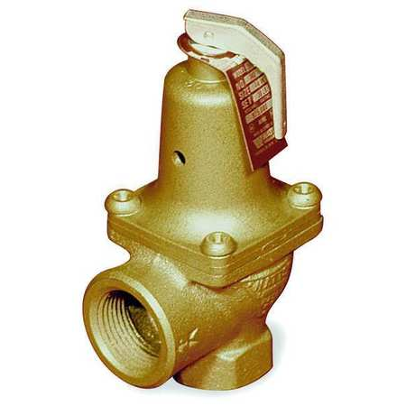 """Watts 174 A-3/4"""" 3/4 In Safety Relief Valve, 30 psi"""