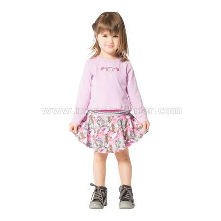 Deux par Deux Girls' 2-in-1 Orchid Sweatshirt Dress Fluffy Friends, Sizes 18M-6 - 24M - image 1 of 2