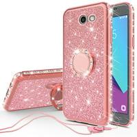 Product Image Samsung Galaxy J7 Prime Case/ Galaxy J7 Perx Case Glitter Cute Phone Case with Kickstand