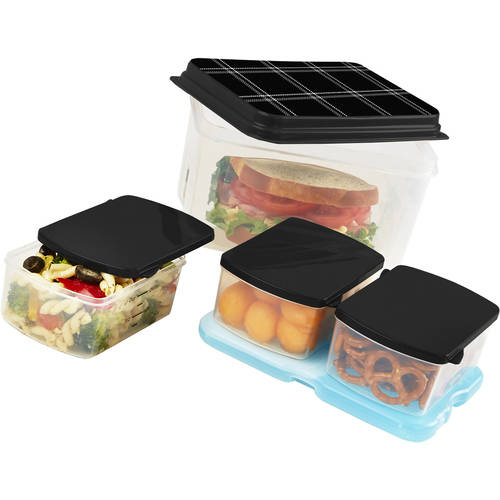 Lunch On The Go Lunch Container Set with Removable Ice Pack, Multiple Colors