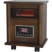 Comfort Glow Infrared Quartz Comfort Furnace - Infrared - Electric - 750 W to 1500 W - 3 x Heat Settings - Portable - Walnut