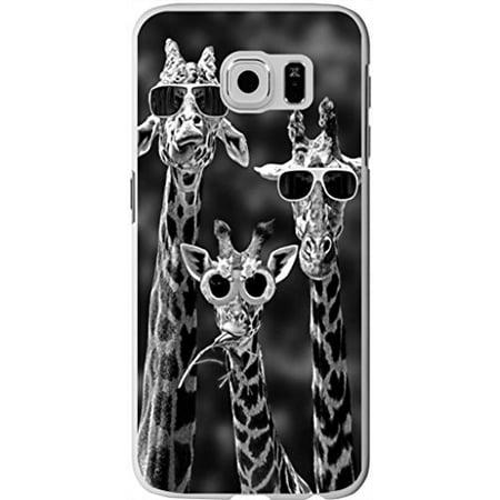 Black Giraffe Skin (Ganma Case For Samsung Galaxy S8 (5.8 inch) Case Funny Three Giraffes In Black Glasses Unique Designer Slim Pattern Thin Protective Shockproof Drop Proof)