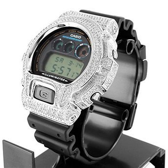 Dw6900 Original G Shock For Mens Iced Out Lab Diamond Silicon Rubber Band Watch
