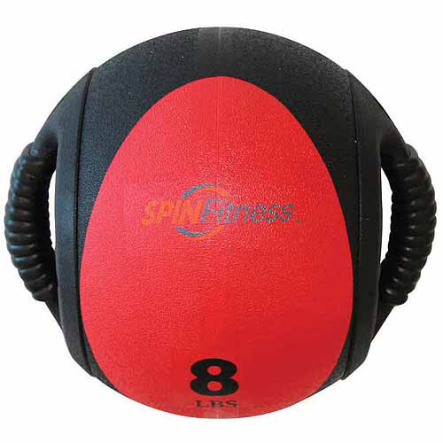 SPIN Fitness Commercial-Grade Dual Grip Medicine Ball, 8 lbs