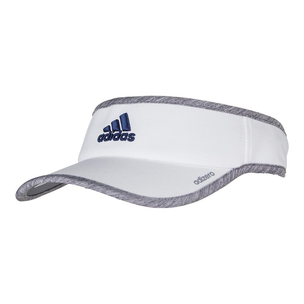 Adidas Men`s Adizero II Tennis Visor White and Light Gray...