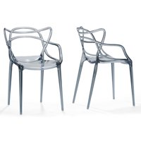 Electron Smoked Plastic Contemporary Dining Chair