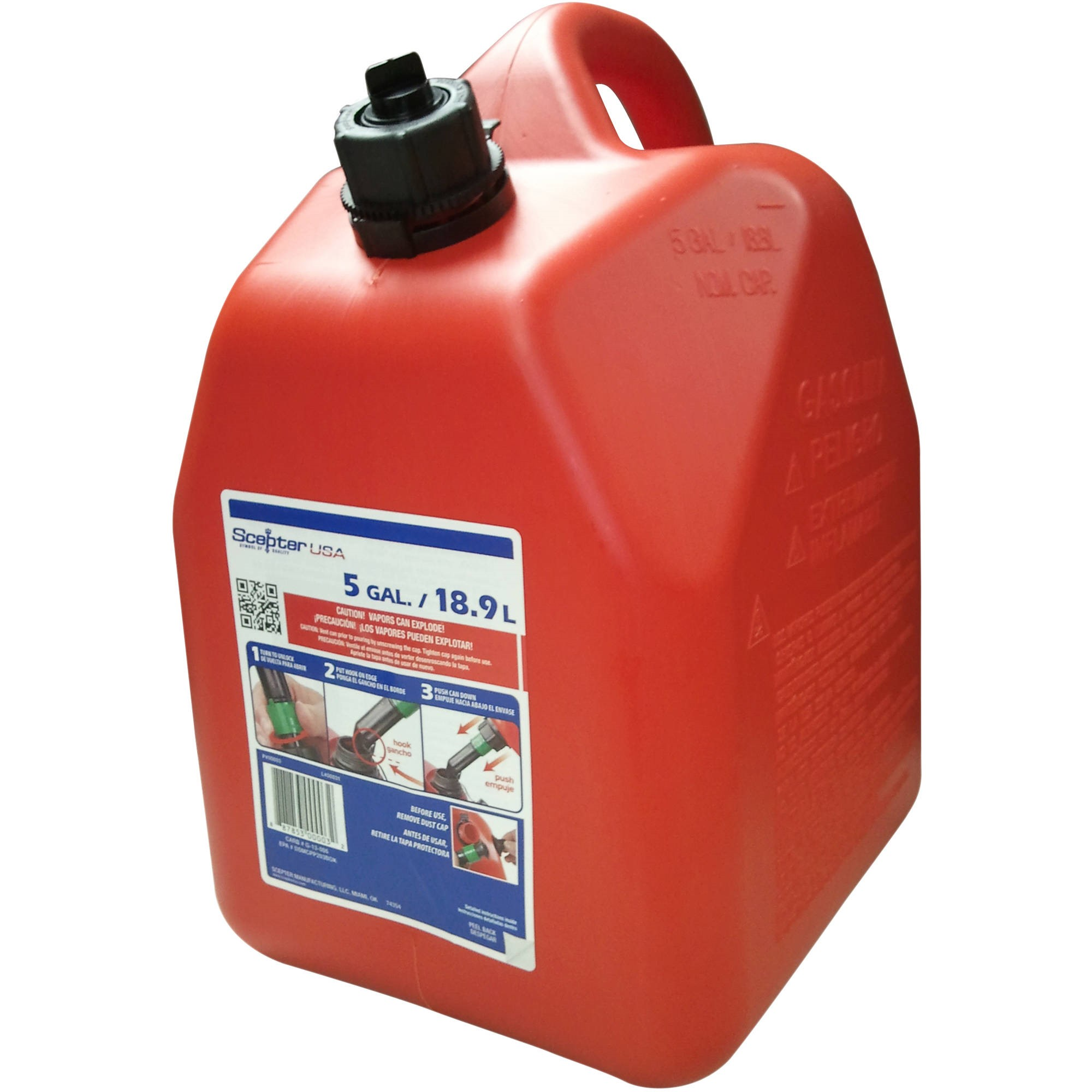 Scepter 5 gal Gas Can, Red