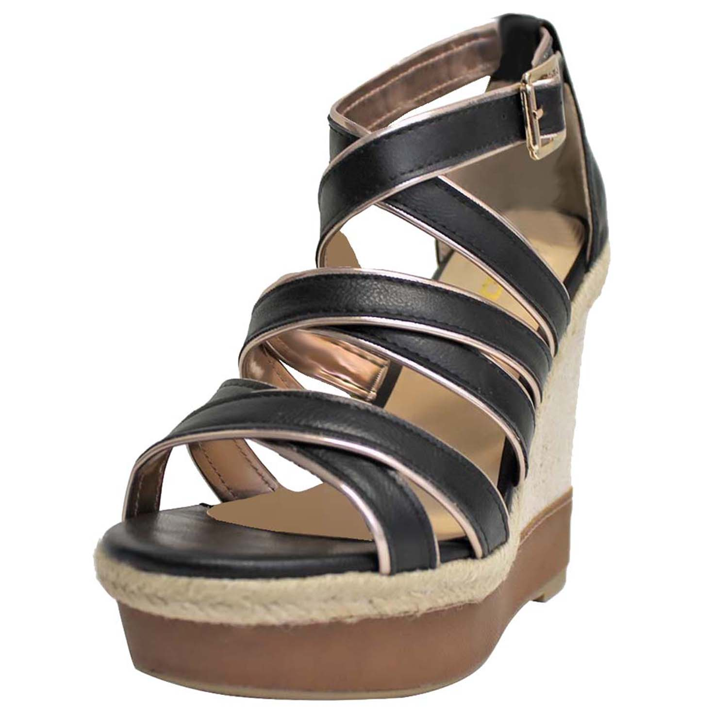 Strappy High Wedge Heels Sandals For Women