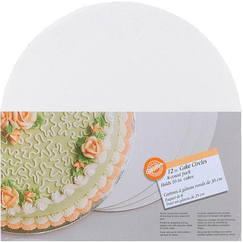 "Wilton 12"" Cake Boards, Circle 8 ct. 2104-129"