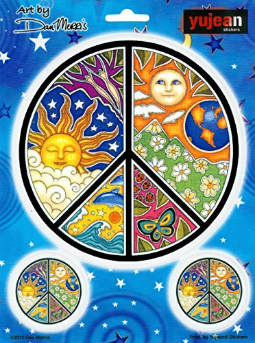 NEW Dan Morris Peace Celestial Moon /& Sun Vinyl Car Sticker Decal