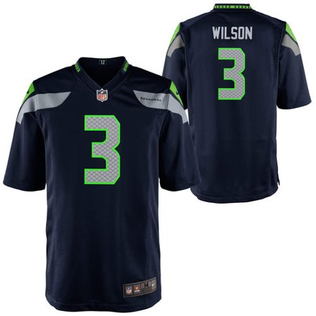 promo code 7653a bfb40 nike boys' seattle seahawks russell wilson #3 home game jersey