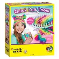 Creativity for Kids Quick Knit Loom: Make a Pom Pom Hat & Cup Cozy