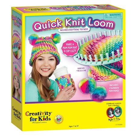 Creativity for Kids Quick Knit Loom: Make a Pom Pom Hat & Cup Cozy ()