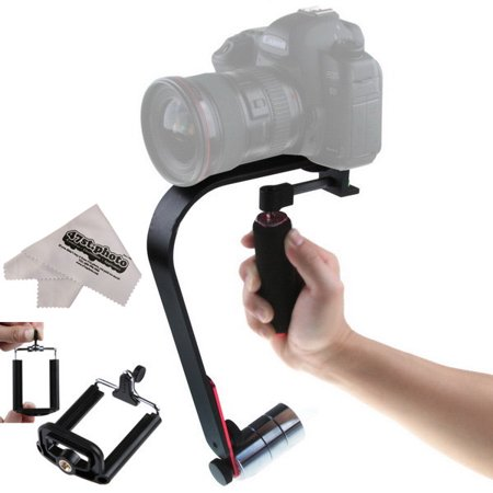 SteadyMateA SM1 HD Professional Handheld Camera Stabilizer for Digital SLR, Mirrorless and Video Cameras up to 3 lbs.