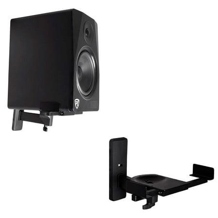 Pair Wall Mount Swivel Brackets For Klipsch RP-150M Bookshelf Speakers ()