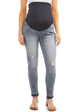Maternity Time and Tru Straight Leg Jean with Released Hem - Available in Plus Sizes