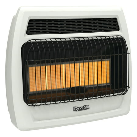 30000 Natural - Dyna-Glo IRSS30NGT-2N 30,000 BTU Natural Gas Infrared Vent Free Thermostatic Wall Heater