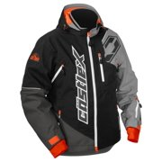 Castle X Racewear Stance Mens Snowmobile Jacket Black/Gray