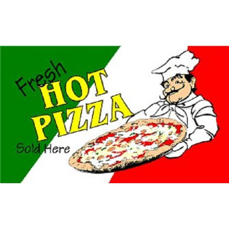 Fresh Hot Pizza Flag Pizzeria Italian Restaurant Advertising Banner Sign New - Italian Banner