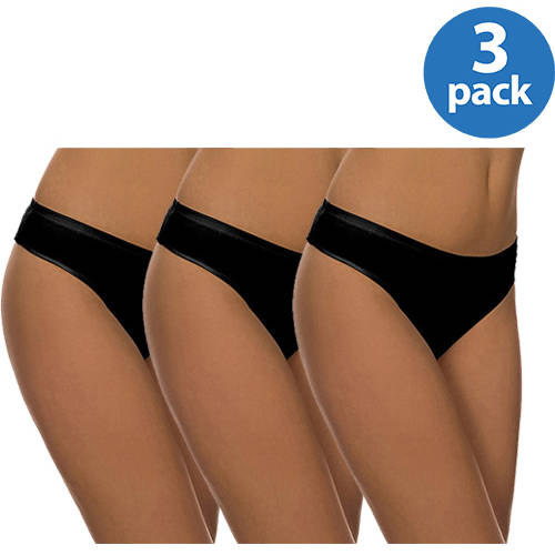 Best Fitting - Cotton Stretch Thong Panties, 3-Pack