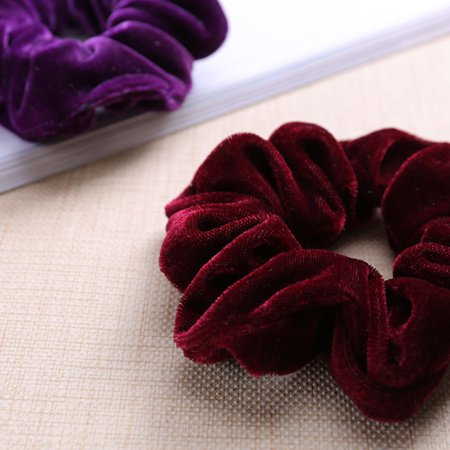 20pcs Flannelette Elastic Hair Band For Women Headband Soft Scrunchies Elastic Hairbands Stretchy Multicolor Rubber Bands Hair Accessories - image 4 de 7