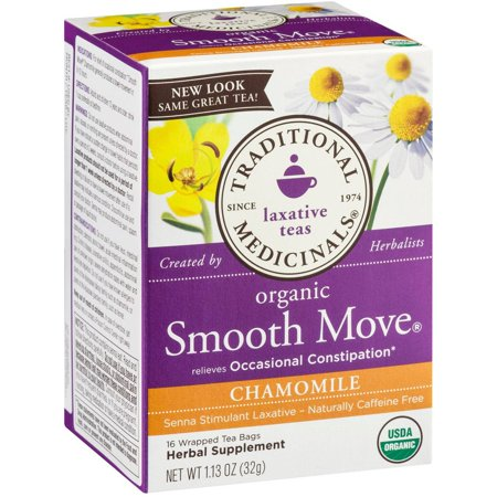 TRADITIONAL MEDICINALS Smooth Move organique Camomille supplément à base de plantes thé, 16 nombre, 1,13 oz (Pack de 3)