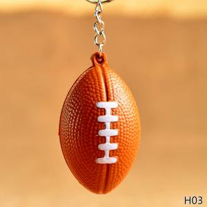 Fancyleo Soccer/basketball many sport ball Stress Ball - Sports Ball Keychain Car Charm -