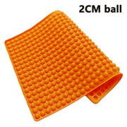 2cm Round Ball Barbecue Mat,Heat Resistant Up To 450 Degrees F,Safe To Use In Ovens, Microwaves, Refrigerators, Freezers and Dishwashers ORANGE
