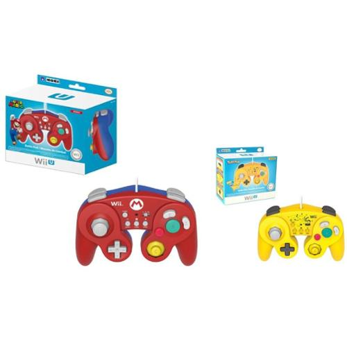 2-Pack Classic Controller Wired Controller For Nintendo Wii/Wii U (Mario+Pikachu)