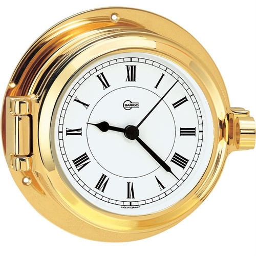 Barigo QUARTZ CLOCK 3.3-inch DIAL BRASS HOUSING 1327MS
