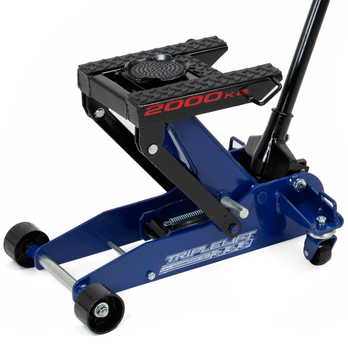 """GHP 4000Lbs Capacity 6""""-17.5"""" Lift Range Triple Lift Jack Stand with Tie Down Loops"""