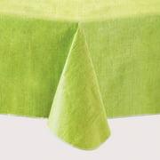 """Mainstays Linen Print Vinyl Tablecloth, Lime, 60""""x102"""""""
