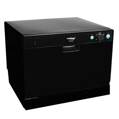 Countertop Dishwasher : Koldfront 6 Place Setting Countertop Dishwasher - Black - Walmart.com