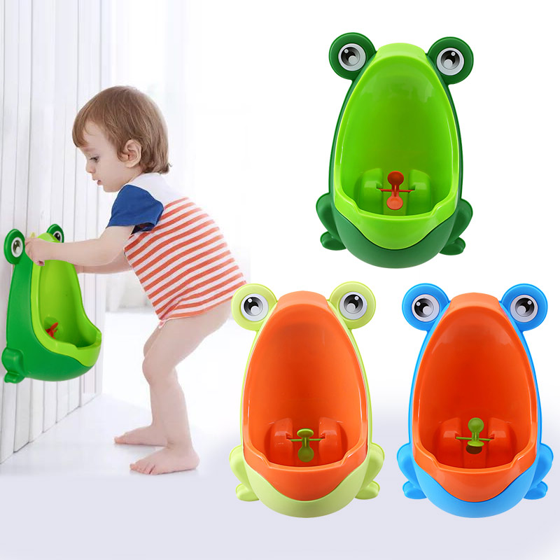 Cute Frog Baby Children Kids Potty Urinal Toilet Training Boy Bathroom Frog Pee Trainer Funny Aiming Target