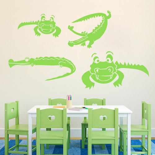 Sweetums Set of Crocodiles Wall Decals