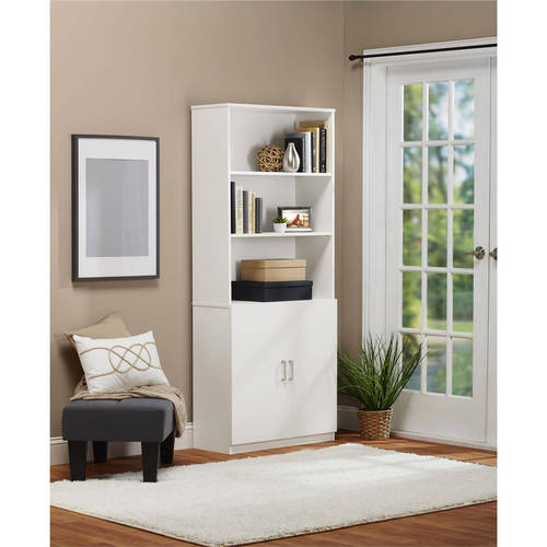 Ameriwood Home 5 Shelf Bookcase With Doors Walmart Com