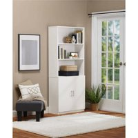 Ameriwood Home Moberly Bookcase with Doors (White)