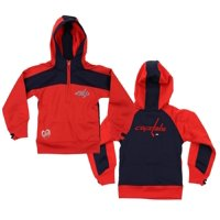 Product Image Reebok NHL Youth Girls Washington Capitals Active Half Zip Pullover  Hoodie 6ae77e3f7